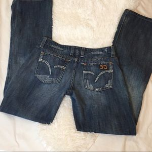 Joe's Jeans Distressed Wide Leg Jeans Size 27